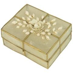Capiz Shell Trinket Box with Shells