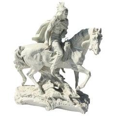 Capo Di Monte Porcelain Native American on Horse