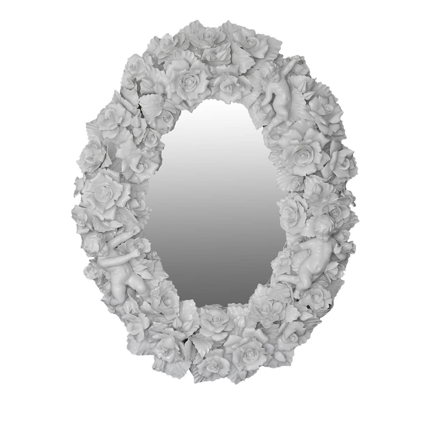 Capodimonte Ceramic Wall Mirror