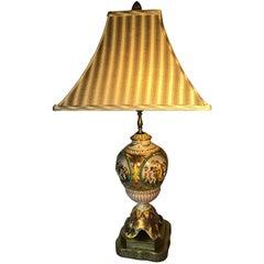 Capodimonte Lamp, Signed VT Bruhn Capodimonte, Italy, L44