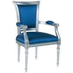 Capotavola Blue Chair with Armrests
