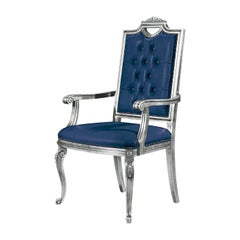 Capotavola Blue Dining Chair with Armrests