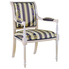 Capotavola Striped Chair with Armrests