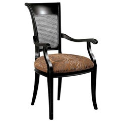 Capotavola Viennese Cane Chair with Armrests