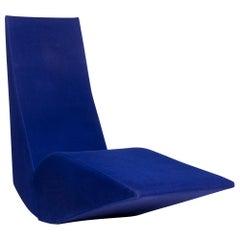 Cappellini Bird Fabric Lounger Blue Tom Dixon Armchair