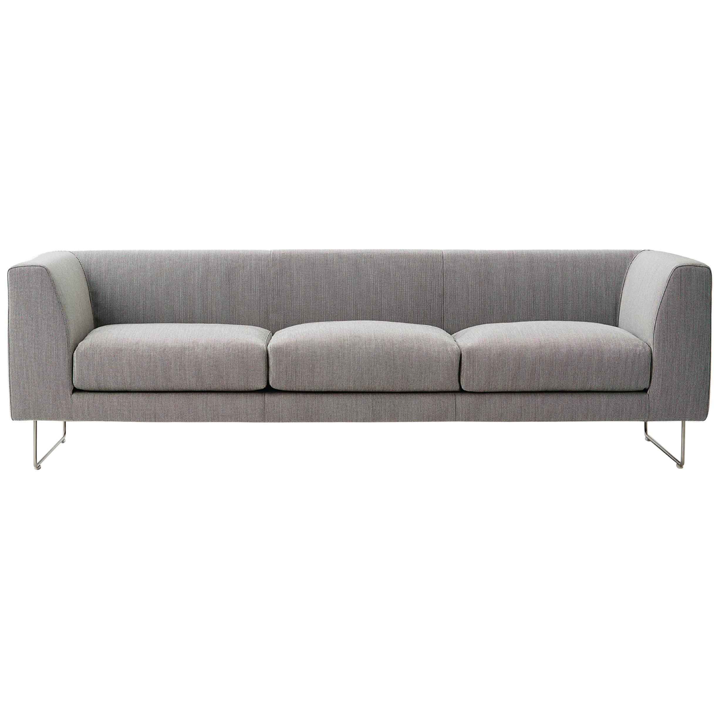 Cappellini Elan Three-Seat Sofa with Fabric or Leather by Jasper Morrison