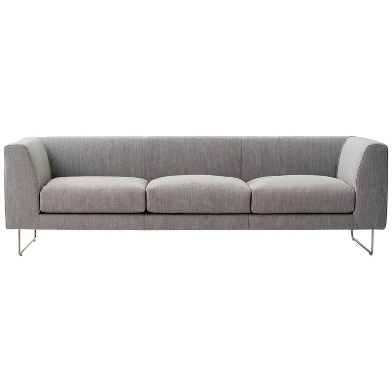 For Sale: Multi (Hallingdal 2 126) Cappellini Elan Three-Seat Sofa with Fabric or Leather by Jasper Morrison