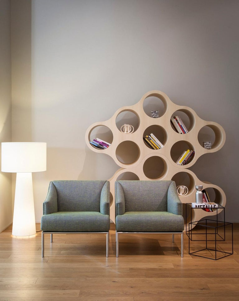 Modern Cappellini High Time Small Armchair in Fabric or Leather by Christophe Pillet For Sale