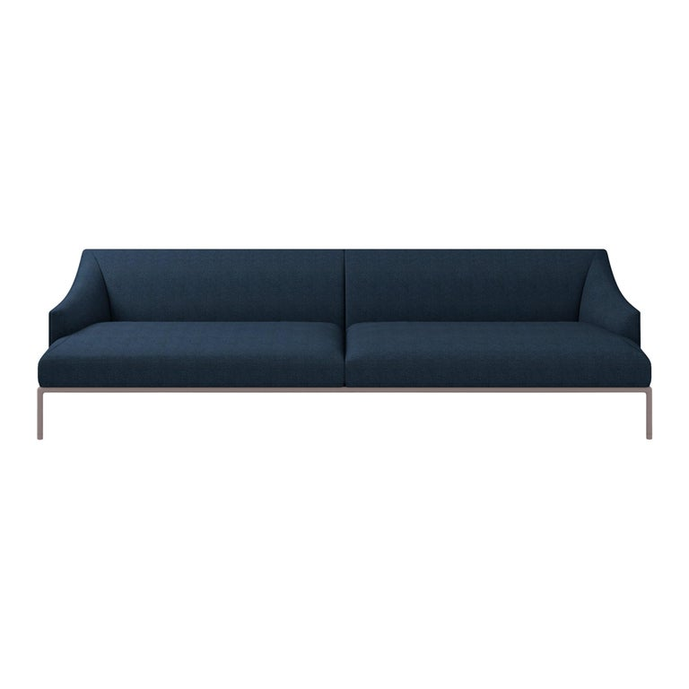 For Sale: Blue (Hero - 812) Cappellini High Time Three-Seat Sofa in Fabric or Leather by Christophe Pillet