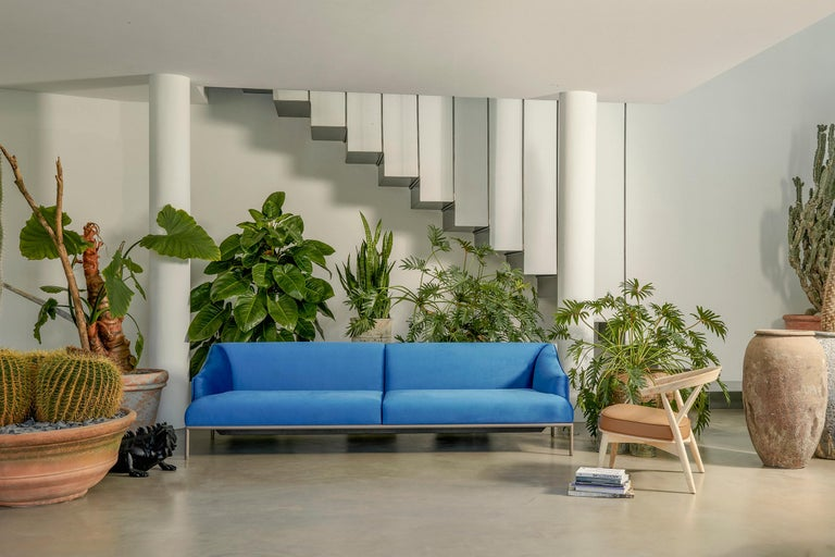 Italian Cappellini High Time Three-Seat Sofa in Fabric or Leather by Christophe Pillet For Sale