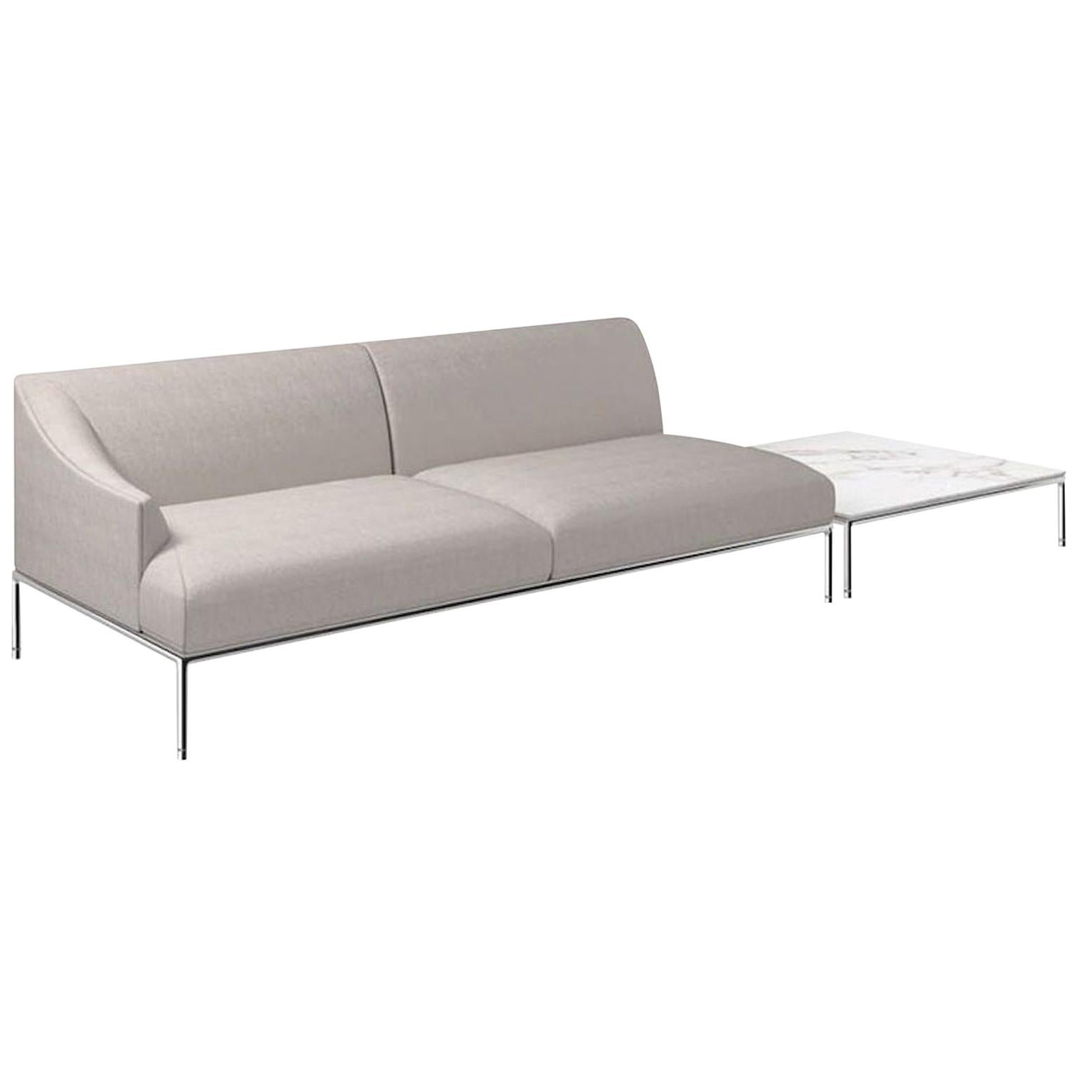 Cappellini High Time Two-Seat Sofa in Cream Hero Fabric by Christophe Pillet