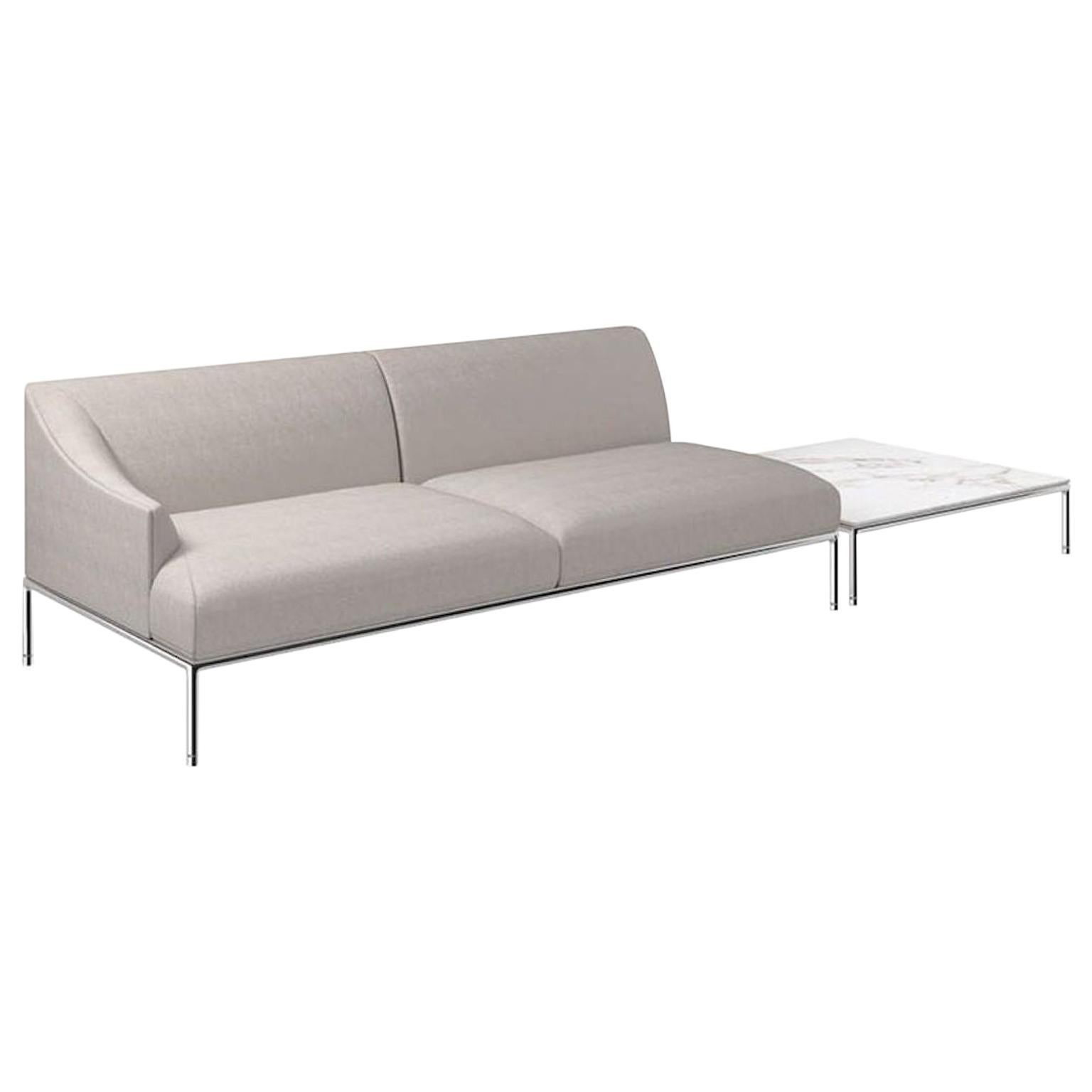 Cappellini High Time Two-Seat Sofa in Fabric or Leather by Christophe Pillet