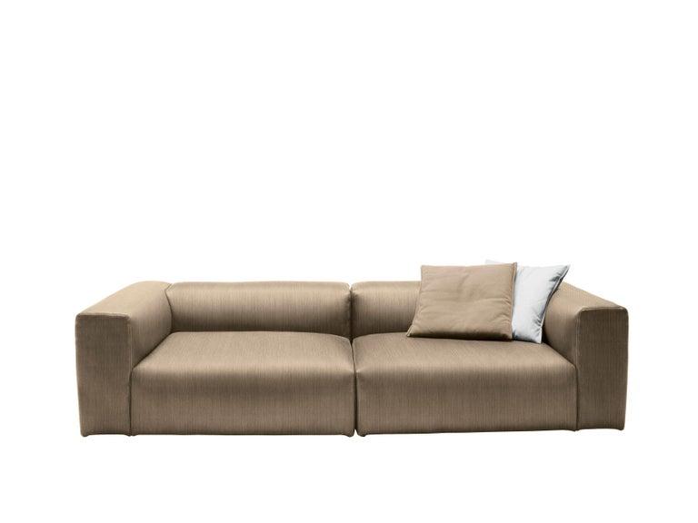 Modern Cappellini Oblong System Sofa in Multi-Density Foam & Fabric by Jasper Morrison For Sale