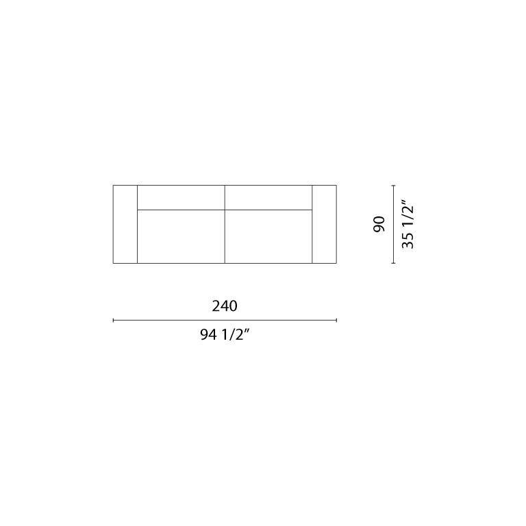 Italian Cappellini Oblong System Sofa in Multi-Density Foam & Fabric by Jasper Morrison For Sale