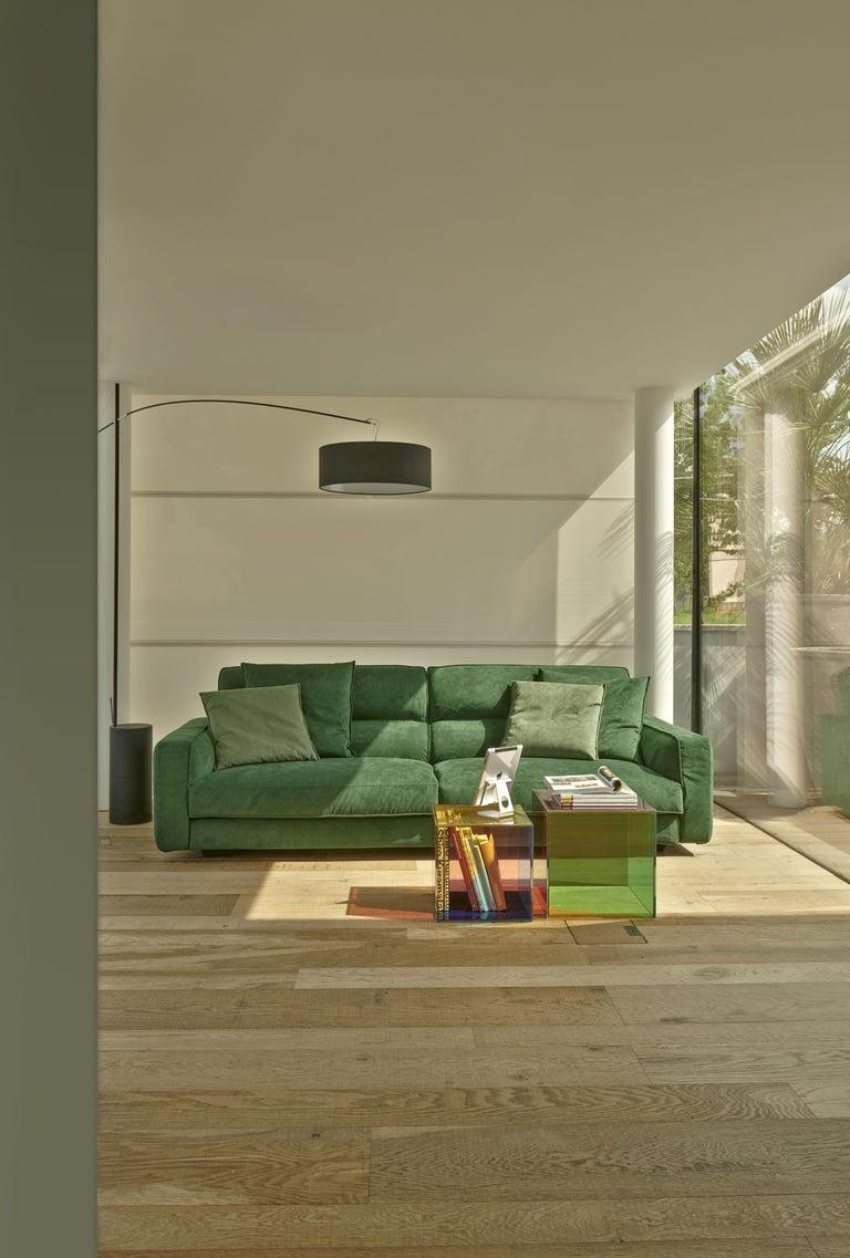 Modern Giulio Cappellini & Antonio Facco Small Luce Glass Service Table for Cappellini For Sale