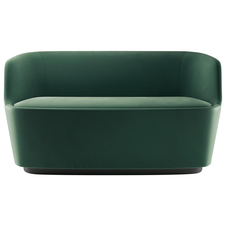 Cappellini Small Orla Sofa in Foam with Green Harald Fabric by Jasper Morrison