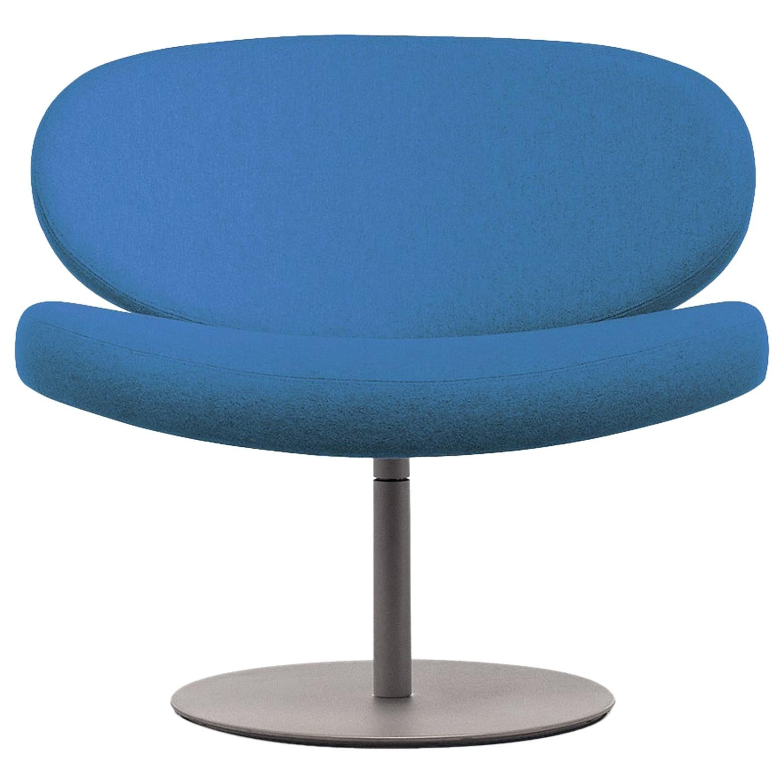Cappellini Sunset Armchair in Beech with Blue Fabric by Christophe Pillet