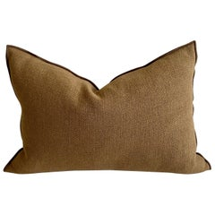 Cappuccino Linen Blend Accent Pillow with Down Insert