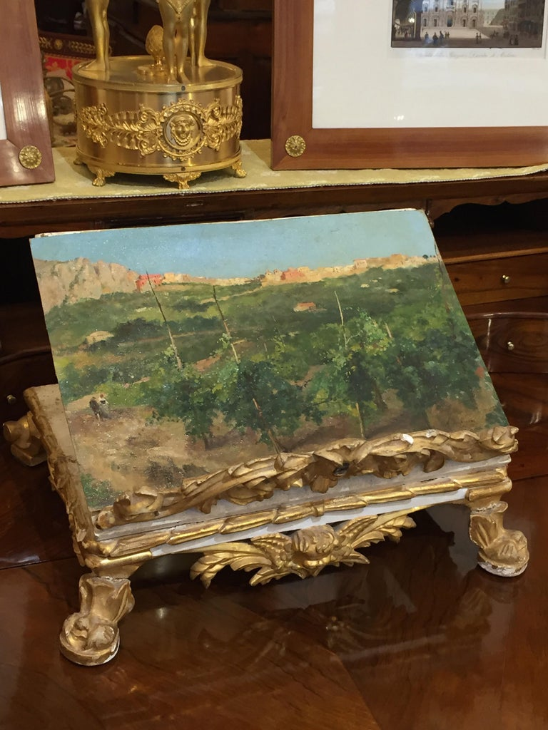 Capri Italy 19th Century Italian Countryside Landscape by Alceste Campriani For Sale 1