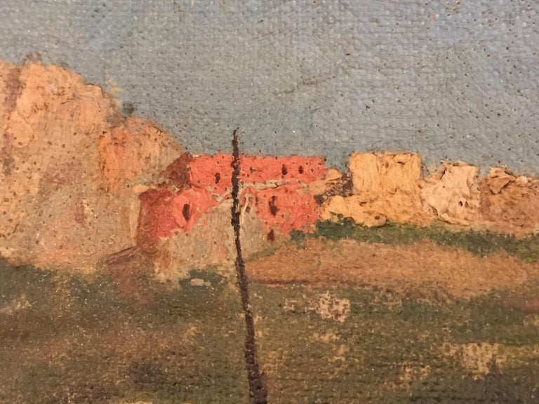 Capri Italy 19th Century Italian Countryside Landscape by Alceste Campriani For Sale 3