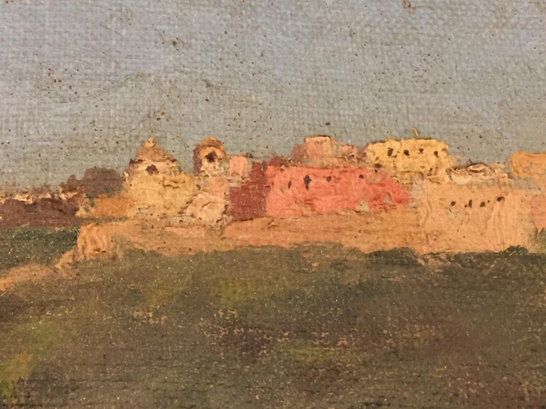 Capri Italy 19th Century Italian Countryside Landscape by Alceste Campriani For Sale 4