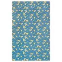 'Capri Lemons' Contemporary, Traditional Wallpaper in Azure Blue