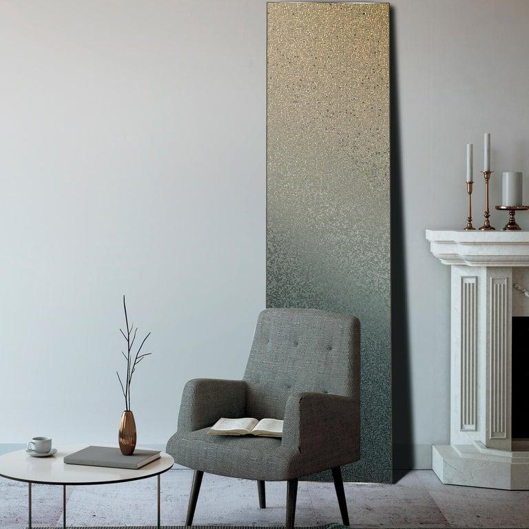Italian Capri Silver Mosaic Nuances Panel by Mutaforma For Sale