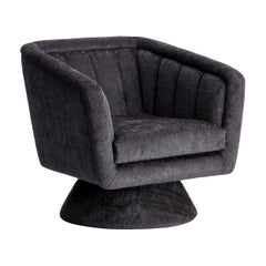 Caprice Swivel Armchair in Grey fabric