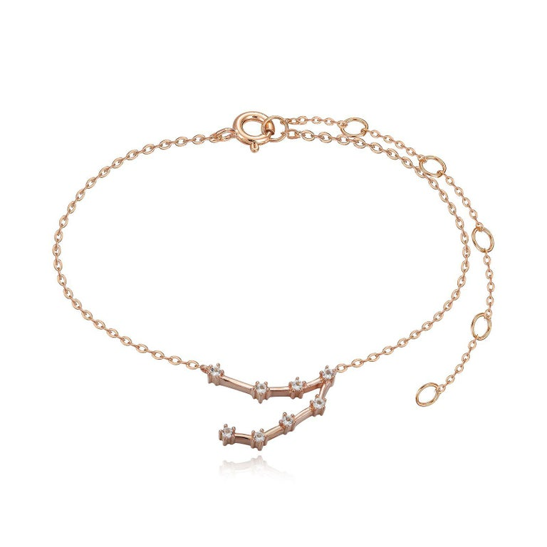 You are unique and your zodiac tells part of your story.  How your zodiac is displayed in the beautiful nighttime sky is what we want you to carry with you always. This capricorn constellation bracelet shares a part of your personality with us all