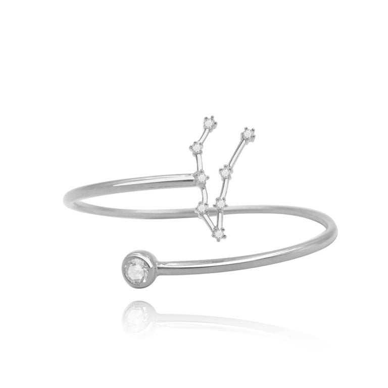 You are unique and your zodiac tells part of your story.  How your zodiac is displayed in the beautiful nighttime sky is what we want you to carry with you always. This capricorn constellation wire bezel cuff shares a part of your personality with