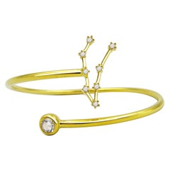Capricorn Constellation Wire Bezel Cuff
