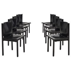 Caprile Dining Chairs by Gianfranco Frattini for Cassina, circa 1980