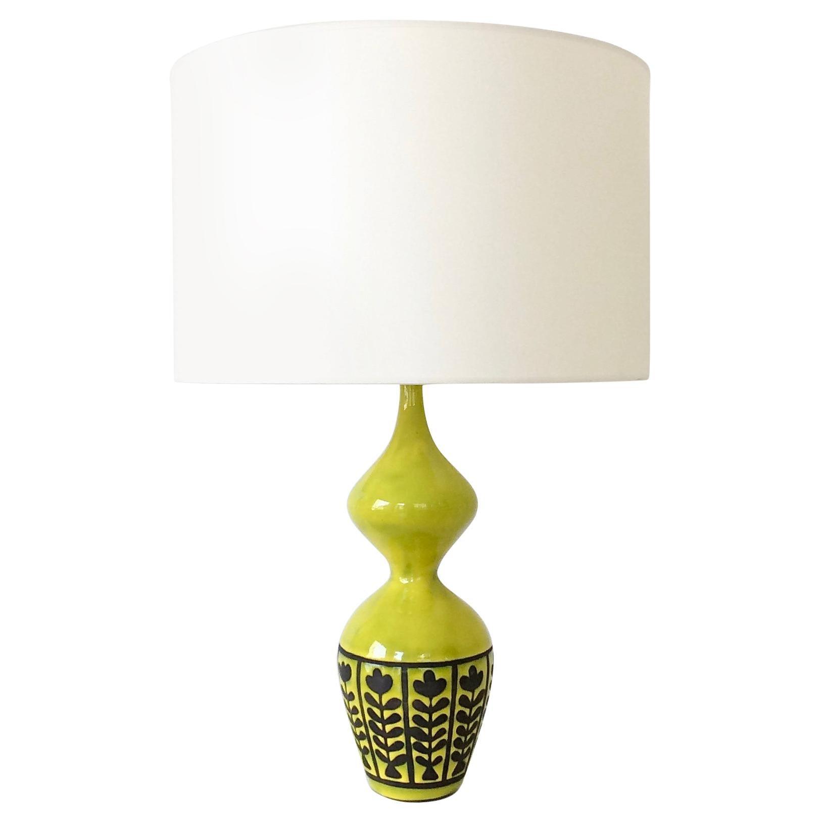 Capron Ceramic Table Lamp, circa 1958, France