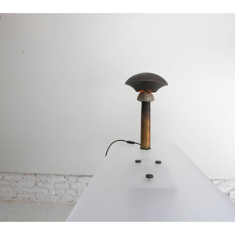 Minimalist Cápsula Table Lamp by Gustavo Neves, Brazilian Contemporary Furniture For Sale