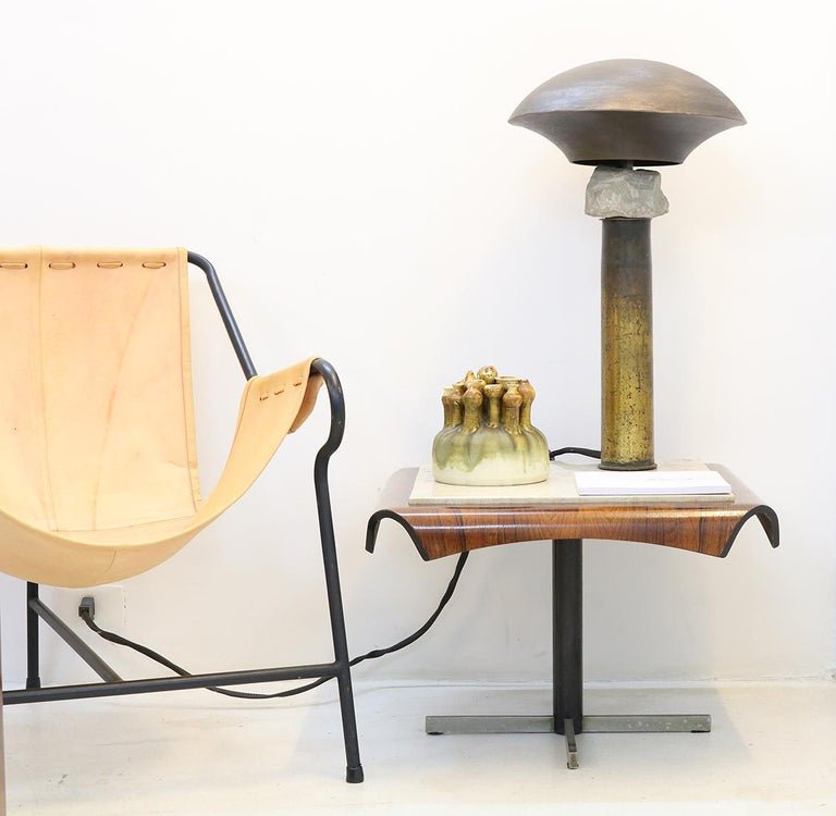 Hand-Crafted Cápsula Table Lamp by Gustavo Neves, Brazilian Contemporary Furniture For Sale