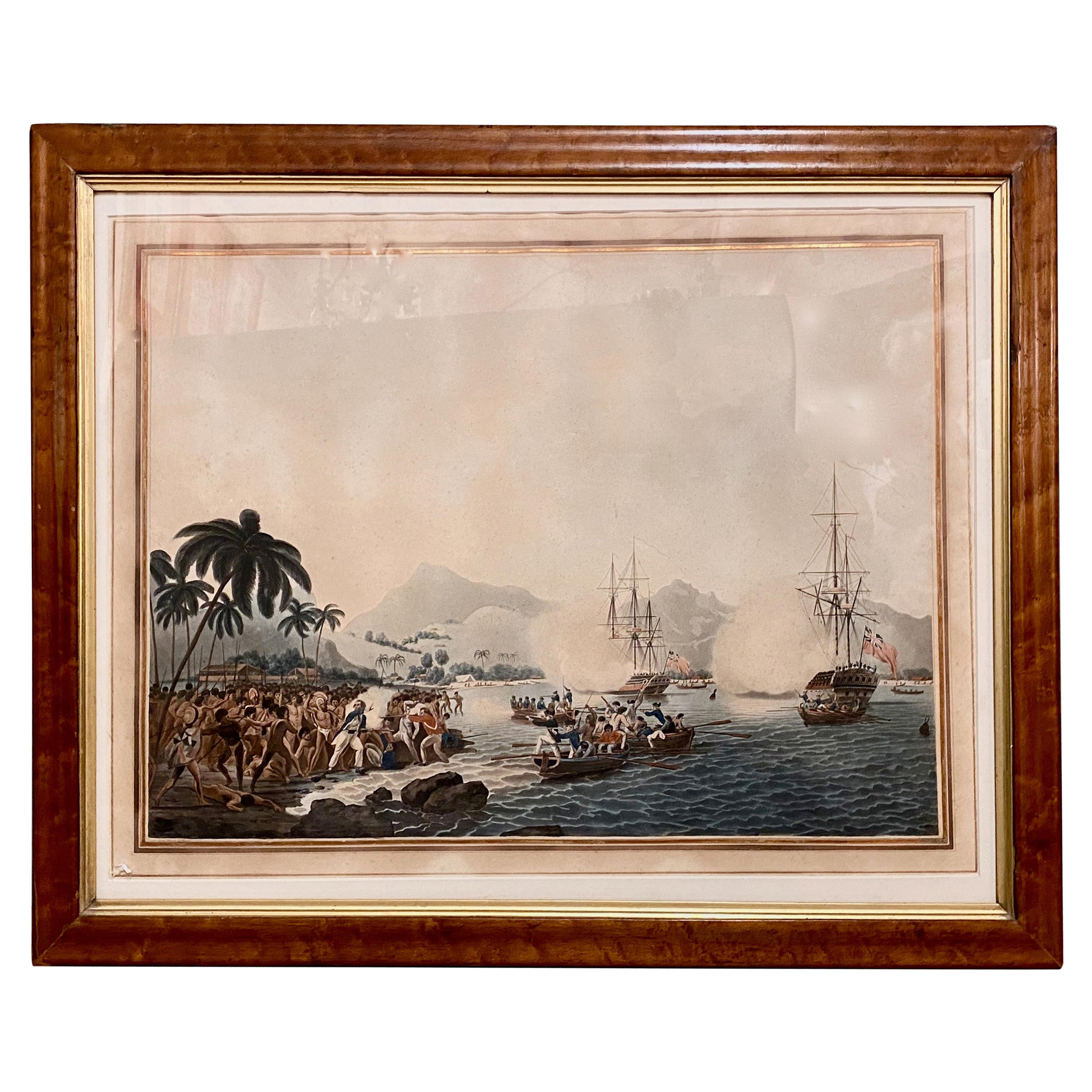 Captain Cook Hand-Colored Engraving