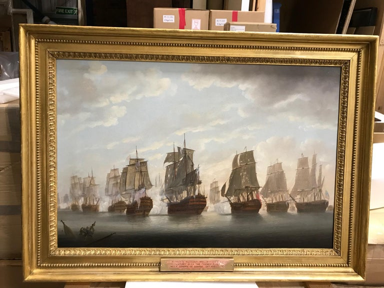 A Pair of Marine Paintings - Views of The Battle of the Saints  For Sale 2