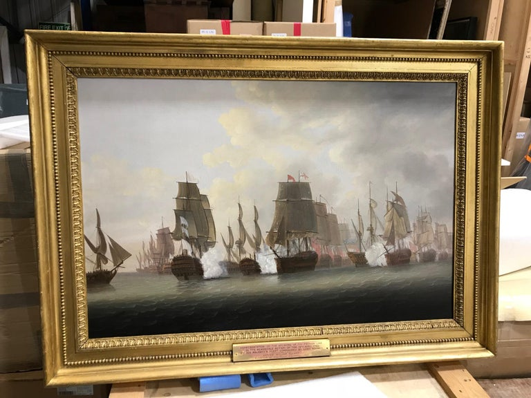 A Pair of Marine Paintings - Views of The Battle of the Saints  For Sale 3