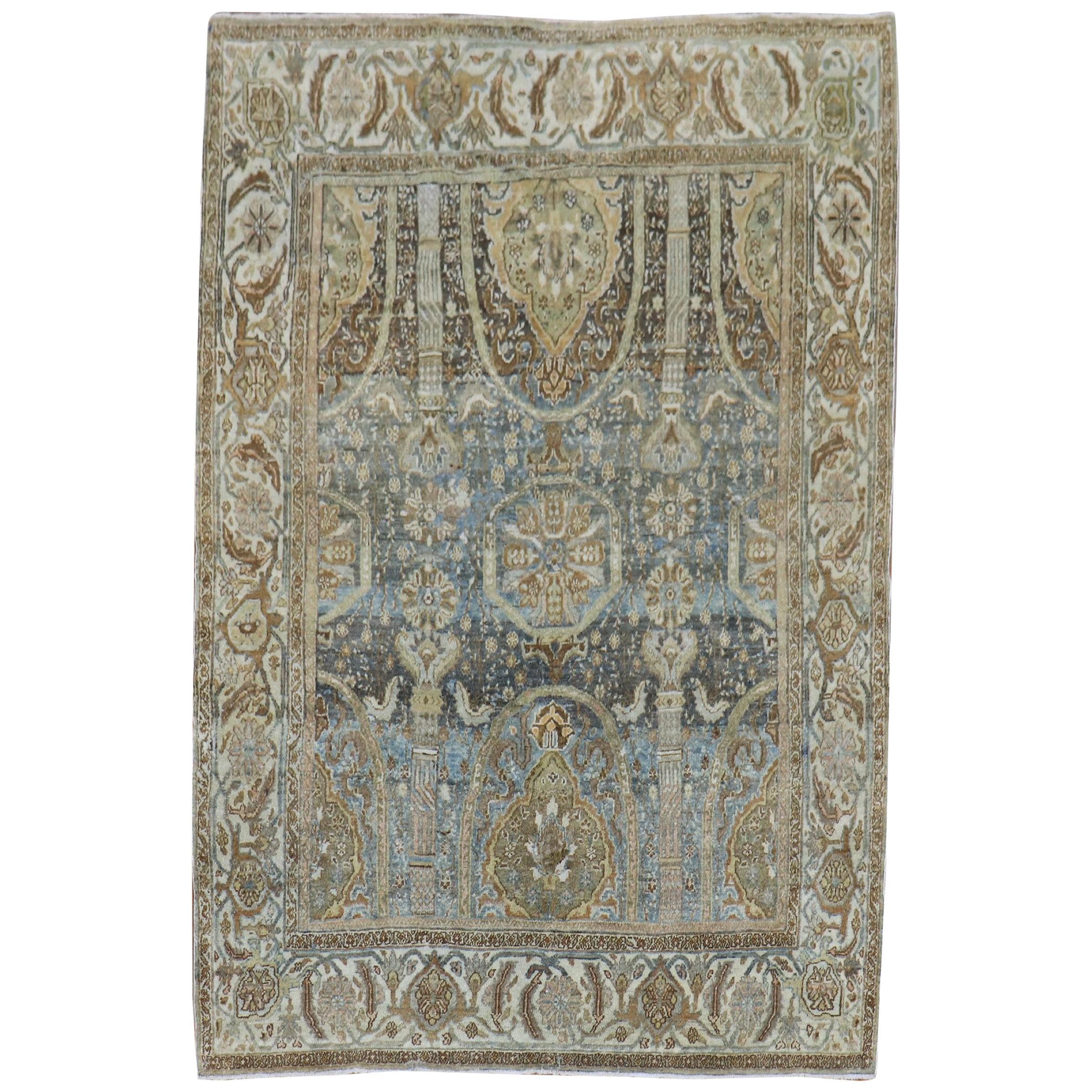 Captivating Antique Persian Senneh Rug