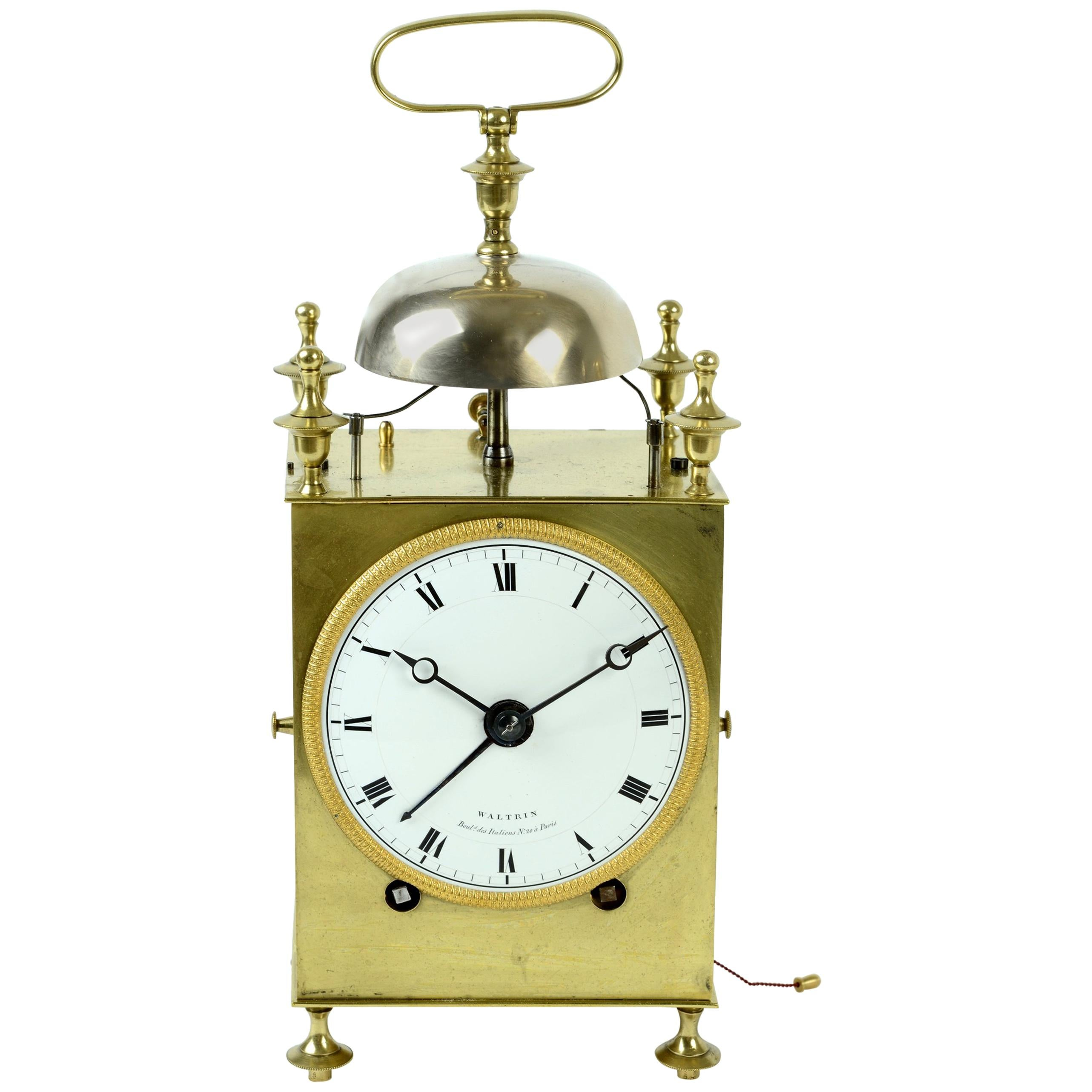 """""""Capucine"""" French Officer's Clock, circa 1800 by Waltrin"""