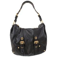 Car Shoe Black LEather Shoulder Bag