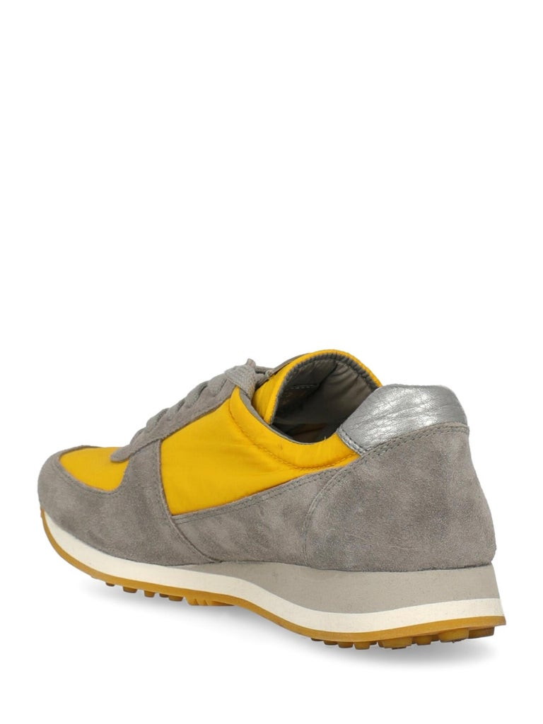 Brown Car Shoe Woman Sneakers Grey Leather IT 35.5 For Sale