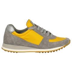 Car Shoe Woman Sneakers Grey Leather IT 35.5