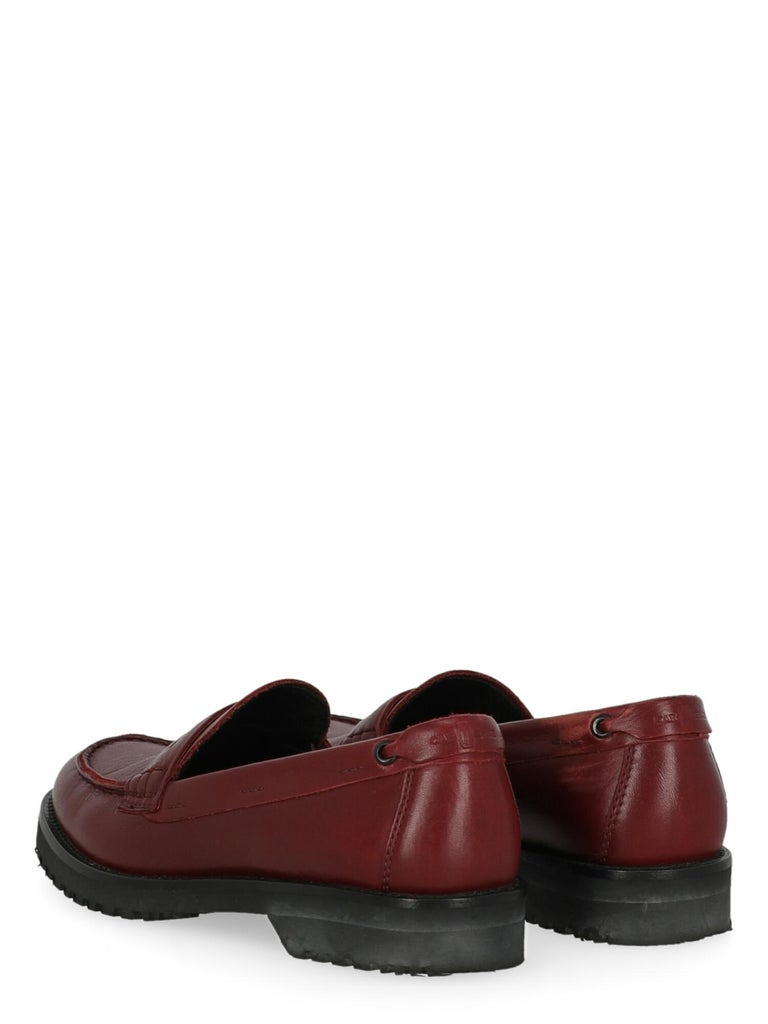 Black Car Shoe  Women   Loafers  Red Leather EU 36 For Sale