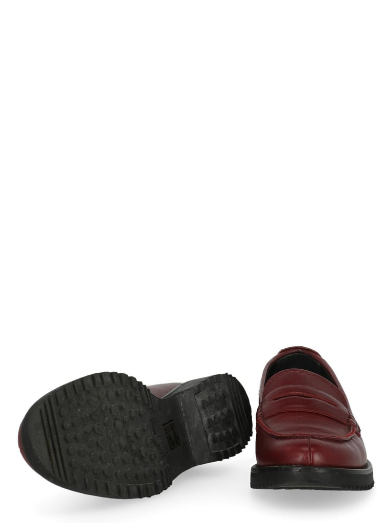 Car Shoe  Women   Loafers  Red Leather EU 36 In Good Condition For Sale In Milan, IT