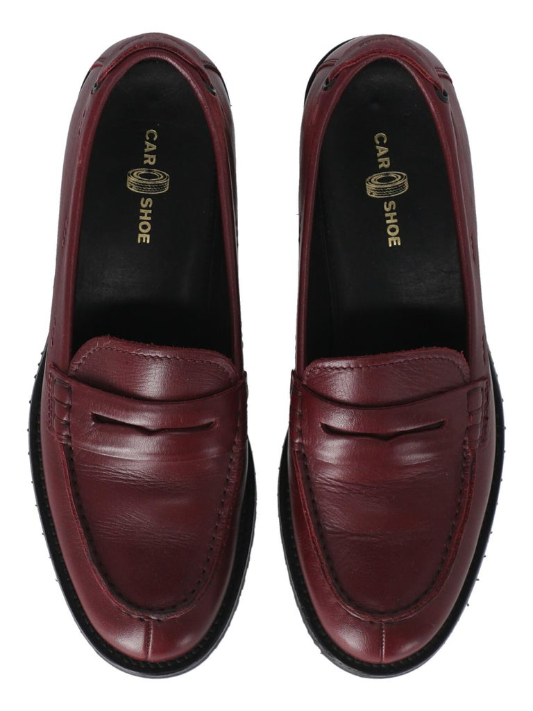 Women's Car Shoe  Women   Loafers  Red Leather EU 36 For Sale
