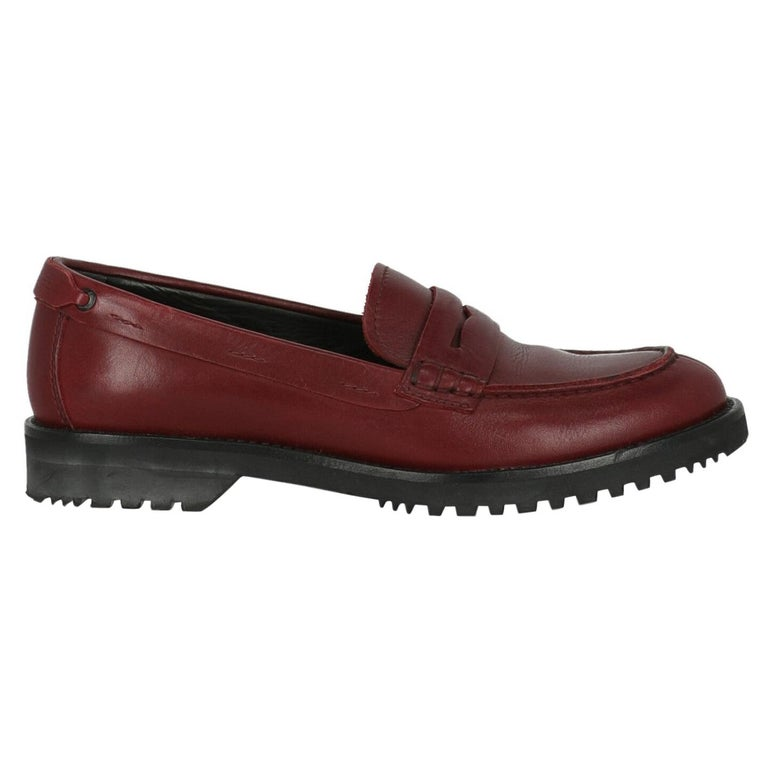 Car Shoe  Women   Loafers  Red Leather EU 36 For Sale