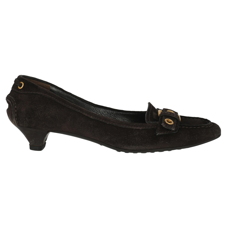 Car Shoe Women  Pumps Brown Leather IT 38.5