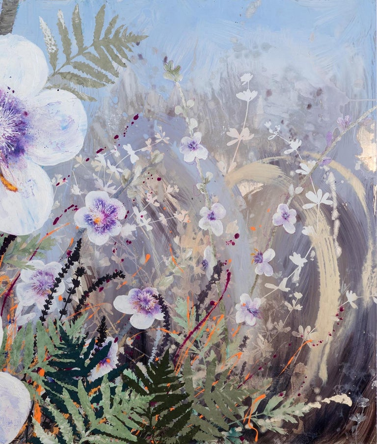 Invasive Beauties - Contemporary Painting by Cara Enteles