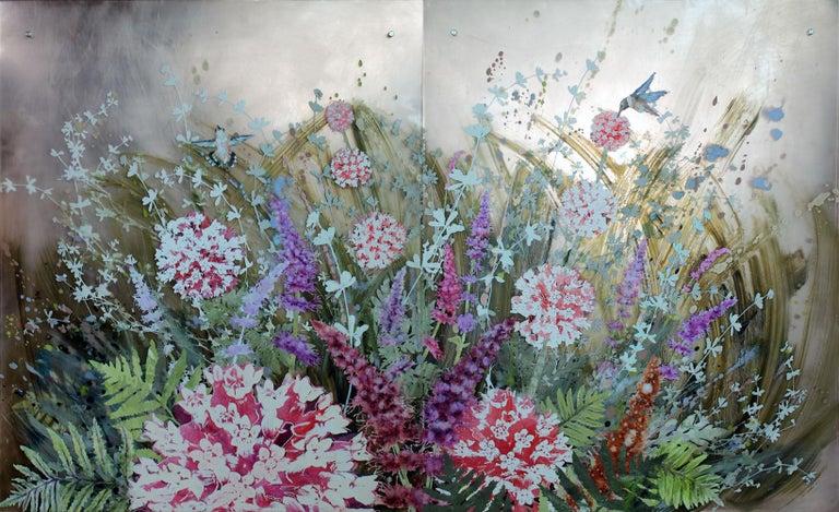Rufous and Milkweed - Mixed Media Art by Cara Enteles